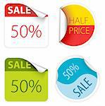 Set of fresh two colors sale labels and stickers Stock Photo - Royalty-Free, Artist: orsonsurf, Code: 400-04221503