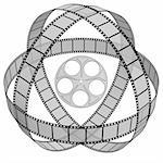 3d Film Strip. White background. Digitally Generated. Stock Photo - Royalty-Free, Artist: gibsonff, Code: 400-04223151
