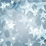 silver stars over grey background with feather center Stock Photo - Royalty-Free, Artist: marinini, Code: 400-04223733