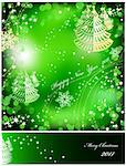 Green background with sparkles star. Vector illustration Stock Photo - Royalty-Free, Artist: emaria, Code: 400-04223969
