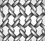 Chain link fence isolated against a metal background. Vector illustration Stock Photo - Royalty-Free, Artist: emaria, Code: 400-04224117