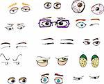 Set of 15 various forward-angle human and fantasy eyes for all uses. Stock Photo - Royalty-Free, Artist: theblackrhino, Code: 400-04224147
