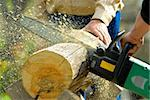 two lumberjacks at work, loggers Stock Photo - Royalty-Free, Artist: makspogonii, Code: 400-04224280
