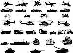 collection of transport vehicles - vector Stock Photo - Royalty-Free, Artist: paunovic, Code: 400-04225142