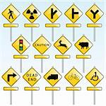 vector set of various traffic signs Stock Photo - Royalty-Free, Artist: emirsimsek, Code: 400-04225451