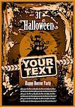 Suggestive Halloween Grunge Style Flyer or Poster Background