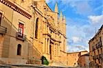 A view of Santa Maria de Montblanc church, Spain Stock Photo - Royalty-Free, Artist: nito, Code: 400-04225496