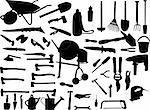 tools collection - vector Stock Photo - Royalty-Free, Artist: paunovic, Code: 400-04225878