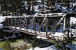Railroad trestle over the Animas River north of Durango, Colorado Stock Photo - Royalty-Free, Artist: disorderly, Code: 400-04226895