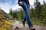 A person hiking in Banff National Park, Alberta, Canada Stock Photo - Royalty-Free, Artist: Leaf, Code: 400-04227067