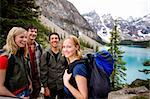 A group of friends on a hiking / camping trip in the mountains Stock Photo - Royalty-Free, Artist: Leaf, Code: 400-04227070