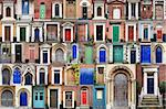 Composite image of various doors around the Historic city of Norwich, norfolk england