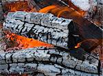 Burninging firewood ,background campfires Stock Photo - Royalty-Free, Artist: Danilin, Code: 400-04230430