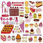 Set of vector sweets illustration