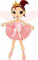 Vector Illustration of Little Cute dancing Fairy Ballerina Stock Photo - Royalty-Freenull, Code: 400-04232216
