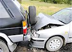 Car accident on the highway Stock Photo - Royalty-Free, Artist: VPVHunter, Code: 400-04233376