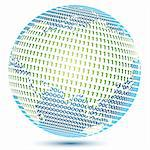 illustration of globe with binary number Stock Photo - Royalty-Free, Artist: get4net, Code: 400-04234117