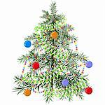 Christmas tree. Illustration in vector format EPS. Stock Photo - Royalty-Free, Artist: orensila, Code: 400-04234276