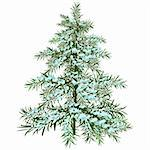 The Winter Christmas tree. Illustration in vector format EPS. Stock Photo - Royalty-Free, Artist: orensila, Code: 400-04234278