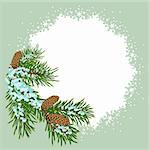 The christmas decoration placard. Illustration in vector format EPS. Stock Photo - Royalty-Free, Artist: orensila, Code: 400-04234280