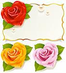 Greeting card with rose in the shape of heart Stock Photo - Royalty-Free, Artist: denis13, Code: 400-04234391