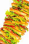Giant sandwich isolated on the white background Stock Photo - Royalty-Free, Artist: ElnurCrestock, Code: 400-04234627
