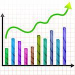 illustration of growing graph with arrow Stock Photo - Royalty-Free, Artist: get4net, Code: 400-04235151