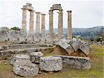 The temple of Zeus in the ancient site of Nemea, southern Greece Stock Photo - Royalty-Free, Artist: alexandr6868, Code: 400-04235677