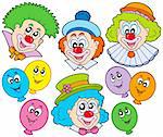 Funny clowns collection - vector illustration. Stock Photo - Royalty-Free, Artist: clairev, Code: 400-04235751