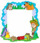 Outdoor summer frame - vector illustration. Stock Photo - Royalty-Free, Artist: clairev, Code: 400-04236082