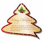 Cartoon Christmas Tree Speech Bubble. Vector illustration Stock Photo - Royalty-Free, Artist: emaria, Code: 400-04236531