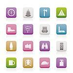 Tourism and Holiday icons -  Vector Icon Set Stock Photo - Royalty-Free, Artist: stoyanh, Code: 400-04237205