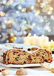 Still life with delicious Christmas stollen and cookies Stock Photo - Royalty-Free, Artist: Brebca, Code: 400-04237745