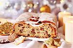 Still life with delicious Christmas stollen and cookies Stock Photo - Royalty-Free, Artist: Brebca, Code: 400-04237746