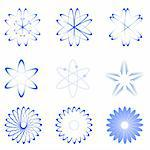 illustration of different shapes of atom on white background Stock Photo - Royalty-Free, Artist: get4net, Code: 400-04240322