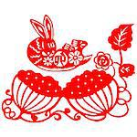 Chinese style of paper cut for year of the rabbit. Stock Photo - Royalty-Free, Artist: mylefthand, Code: 400-04241278