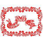 Chinese style of paper cut for year of the rabbit. Stock Photo - Royalty-Free, Artist: mylefthand, Code: 400-04241280