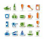 Shop and Foods Icons - Vector Icon Set Stock Photo - Royalty-Free, Artist: stoyanh, Code: 400-04241965