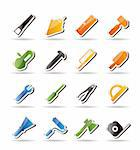 Construction and Building Tools icons - Vector Icon Set Stock Photo - Royalty-Free, Artist: stoyanh, Code: 400-04241978
