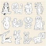 cute animals draw Stock Photo - Royalty-Free, Artist: notkoo2008, Code: 400-04242034