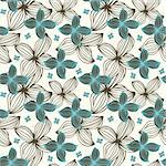 seamless flower pattern Stock Photo - Royalty-Free, Artist: notkoo2008, Code: 400-04242225