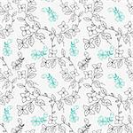 seamless flower pattern Stock Photo - Royalty-Free, Artist: notkoo2008, Code: 400-04242228