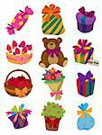 cartoon gift icon Stock Photo - Royalty-Free, Artist: notkoo2008, Code: 400-04242259