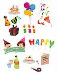cartoon Birthday icon Stock Photo - Royalty-Free, Artist: notkoo2008, Code: 400-04242269