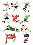 cartoon football player Stock Photo - Royalty-Free, Artist: notkoo2008, Code: 400-04242325
