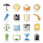 Simple Business and Office internet Icons - Vector icon Set Stock Photo - Royalty-Free, Artist: stoyanh, Code: 400-04242609