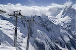 Ropeway at ski resort. Caucasus Mountains. Dombay Stock Photo - Royalty-Free, Artist: BSANI, Code: 400-04243398