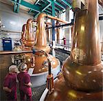Workers checking stills in distillery Stock Photo - Premium Royalty-Freenull, Code: 649-04248752