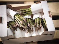 Close up of asparagus in box Stock Photo - Premium Royalty-Freenull, Code: 649-04248837