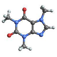 Caffeine molecule Stock Photo - Premium Royalty-Freenull, Code: 679-04249833